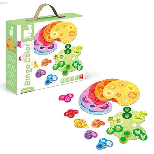 Janod - J02841 - Jeu de Société - Bingo Color