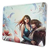 Squall Leonhart & Rinoa Heartilly Non-Slip Mousepad Gaming Computer Mouse Pad Gaming Desktop Laptop Mouse Pad with Stitched Edge 10x12 in