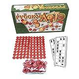 Hangarone Juego de bingo ruso, juego de bingo ruso, recuerdos de bingo ruso, juegos de mesa para la familia, kit de tambola de tarjetas de loteria de plástico, juguetes de bingo chips