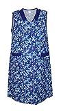 Damenkittel Baumwolle Hauskleid ohne Arm Kittel Schürze bunt, Größe:36, Modell:Modell 2