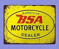 金属サイン 金属サイン プラーク ビンテージ レトロ スタイル オートバイ ディーラー ガレージ レトロな家の壁の装飾錫金属ギフト装飾ヴィンテージプラーク