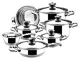 Magefesa Ecotherm Dietetic Stainless Steel 12 Piece, Cookware Set by Magefesa