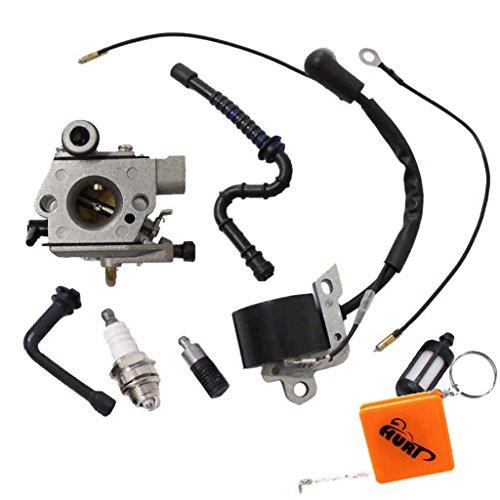 HURI Vergaser und Zündspule Zündkerze passend für STIHL 024 026 MS240 MS260 Motorsäge Ersetzt 1121 120 0610, 0000 400 1300
