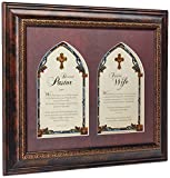 Creative Brands Faithworks Pastor & Pastor's Framed Wall/Tabletop Art, 17 x 14-Inches, Pastor and Pastor's Wife