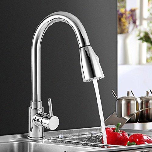 Wasserhahn ICOCO 360°Schwenkbereich Einhebel Wasserhahn Küchenarmatur Einhandmischer Spüle Küche mit herausziehbarem Brausekopf Armatur - 3