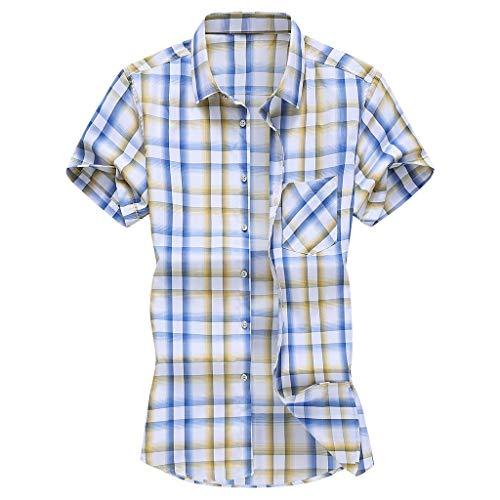 BURFLY Mode Männer Slim Loose Hawaii Vintage Kurzarm Bedruckt Turn-Down Kragen Sommer Casual Lose Plus Größe M~6XL Fashion Herren T-Shirt Tops
