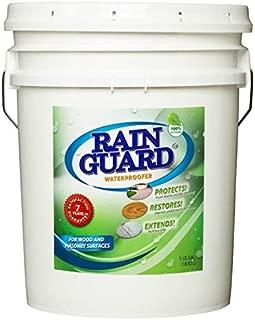 Rainguard 5 Gal Homeowner Clear Multi Surface Masonry & Wood Waterproofer Sealer Protects Driveways, Porches, Patio's, Walkway's, Pavers 7 Year Satisfaction Guarantee