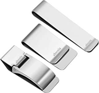 abooxiu Money Clip for Men Wallet 3pcs Credit Card Holder Stainless Steel Minimalist RFID Slim m Clip Women Christmas Gifts