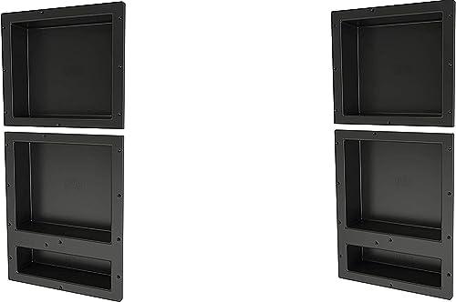 "popular Tile Redi outlet online sale USA RNT1614S-20D Redi Niche Shower, 2021 16"" W x 34"" H, Black (2) online sale"