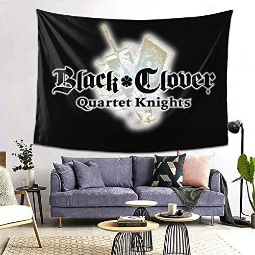 Tapiz de trébol negro novedad colgante de pared decoración del hogar mantel manta Picnic playa alfombra alfombra sofá cubierta cartel 60 * 40 pulgadas