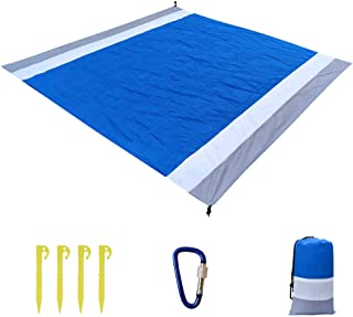 Waterproof Picnic Blanket Rug Portable Camping Sandless Beach Sand Mat Pocket Blanket Picnic Mat Lightweight Waterproof Floor Mat Mini Folding Beach Mat Camping Moisture-Proof Mat 200*210cm