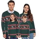 akalnny maglioni natalizi maglieria per famiglie con collo tondo manica lunga casual unisex pullover per famiglia uomo donna bambini