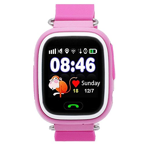 GYR Teléfono Smartwatch para niños, Reloj Inteligente para niñas Reloj para niños con cámara de Dos vías Llamada Sos Reloj 1.4 '' Pantalla táctil Relojes Juguetes educativos 4-12 Re