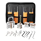 Lockpicking Set Profi, Dietrich Set 24-Teiliges Lock Picking Set mit 3 Transparenttem...