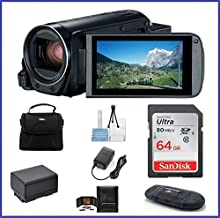 Canon VIXIA HF R80 Full HD Camcorder Bundle, includes: 64GB SDXC Memory Card, Card Reader, Spare Battery and more...