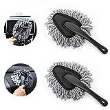 MoKo Car Duster, 2 Pack Super Soft Microfiber Car Dash Duster Detail Brush