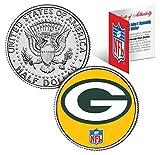 Merrick Mint Greenbay Packers NFL Logo Licensed John F. Kennedy Half Dollar! COA & Display Stand!