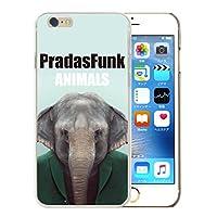 301-sanmaruichi- iPhone12 ケース カバー iphone 12 携帯ケース ハードケース おしゃれ PradasFunk Animals プラダズファンク アニマルズ 動物 ゾウ B