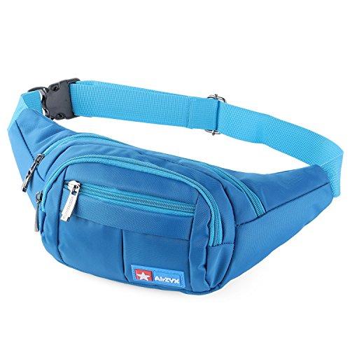 AirZyx wasserdichte Bauchtasche Geeignet für Reise, Sport & alle Outdoor Aktivitäten, Hüfttasche für Damen und Herren, Bauchtasche Wasserdicht Hüfttaschen für Running (Blau)