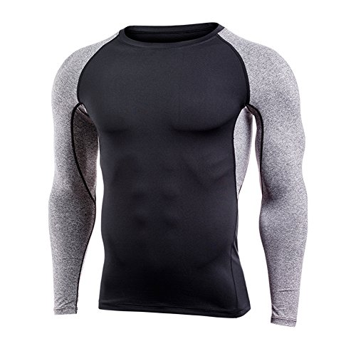 Qualilty Men Sweat Speed Dry Clothing Long Sleeve T-Shirt Tops Breathable Fitness