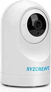 WiFi Camera, XYZCREAT 1080p HD Home Security Camera 360 Viewing Wireless IP Cameras Work with Alexa Indoor Home Pet Baby Monitor with AI Motion Detection/IR Night Vision/PTZ / 2-Way Talk Cloud Storage