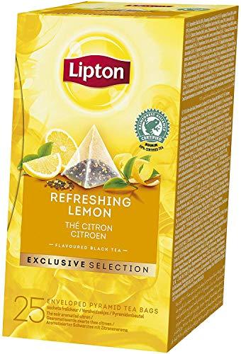 Lipton Zitrone Schwarztee Pyramidbeutel, 2er Pack (2 x 42,5 g)