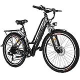 Tooluck E-Bike Bici Elettrica, Bicicletta Elettrica da 26 Pollici 250W City Bike con Batteria al...