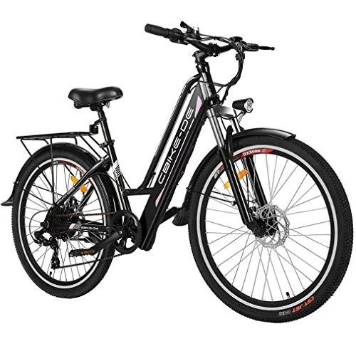 Tooluck E-Bike Bici Elettrica, Bicicletta Elettrica da 26 Pollici 250W City Bike con Batteria al Litio 36V 8AH, Professionale a 7 velocità (Consegna Entro 5-7 Giorni) (26 Pollici- Nero)
