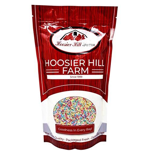 100% Natürliche Farben Bunte Zuckerdekor (1 Kg) Zucker-Streudekor in Stäbchenform Zum Backen Und Verzieren By Hoosier Hill Farm