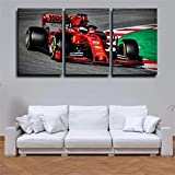 Formel-1-Ferrari-Rennen Leinwandbild 3 teilig Poster Drucke