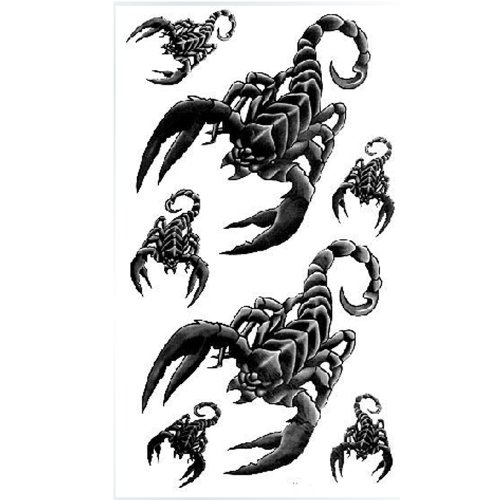 tatuajes temporales King Horse Waterproof and sweat tattoo sticker black totem series with a word of men and women