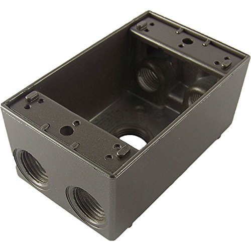 Greenfield B25BRS Series Weatherproof Electrical Outlet Box, Bronze