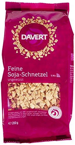 Davert Feine Soja-Schnetzel, 3er Pack (3 x 200 g) - Bio