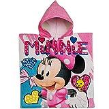 alles-meine.de GmbH Badeponcho / Kapuzenhandtuch - Disney - Minnie Mouse - 100 % Baumwolle - 60 cm * 120 cm - 2 bis 8 Jahre Poncho - mit Kapuze - Frottee / Velours - Handtuch STR..