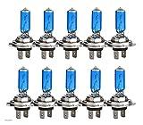 WANSHIDA QiQi Shop 10pcs H7 55W 12V Super Brillante Blanco Fujas de Niebla Bombilla Halógena High Power Footlights Lámpara Fuente de Coche Estacionamiento Automático (Socket Type : H7)