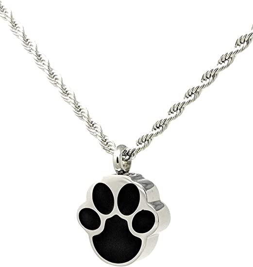 KC KATIE COLLECTION BY URNSELLER Pet Cremation Jewelry for Ashes of Cat Sturdy Chain Included Engraveable Silver Cat Waterproof