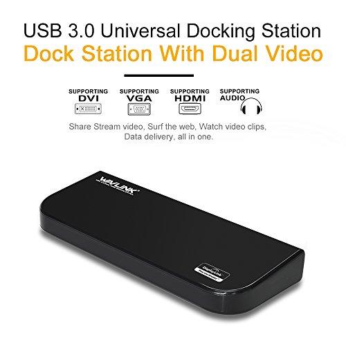 WAVLINK『Dual2KUSB3.0UniversalDockingStation(WL-UG39DK1)』