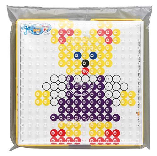Hama Perlen 8282 Motiv Rahmen für Maxi Perlen, inklusive Steckplatte Quadrat und Zubehör, Mehrfarbig