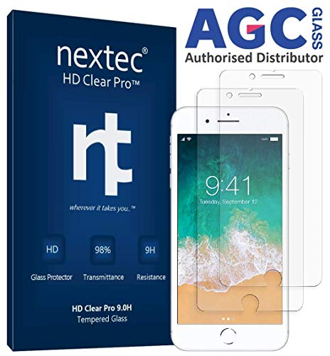 nextec iPhone 6 Plus Screen Protector, (2 Pack) Tempered Glass Screen Protector for Apple iPhone 6 Plus (HD Clear PRO 9.0H) AGC+ Glass