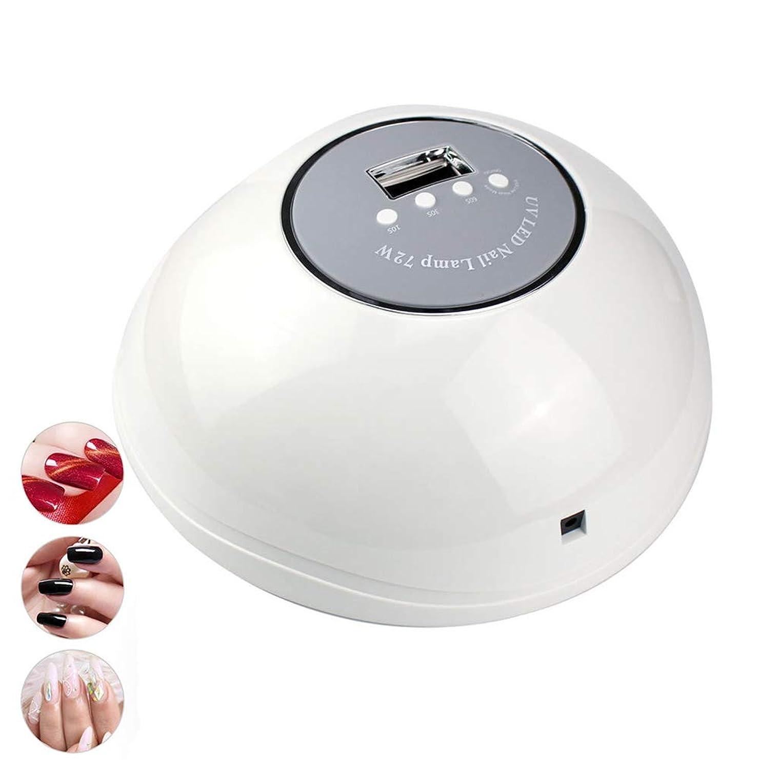 処理トピックページUV LEDプロフェッショナル72Wマニキュアネイルアート機器用ジェルポリッシュライトセラピー紫外線ランプ器具用ネイルドライヤー