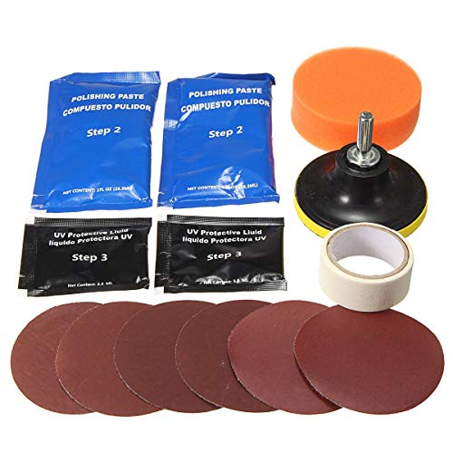 HYY-YY Headlight Lens Restoration Cleaner Kit Plastic Light Polijsten Cleaner Repair Tool