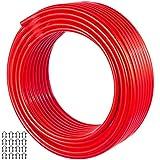 VEVOR Tubería Suelo Radiante 50 m, PEX al PEX Tubo de Aluminio 50 m, Tubo Pex al Pex, Tubería Multicapa, Tubería de Oxígeno-Calefacción, para Calefacción de Suelos Radiantes, Color Rojo