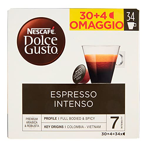 Caffè in Capsule Espresso Inteso Dolce Gusto 30 Caps + 4 Omaggio, 238 gr