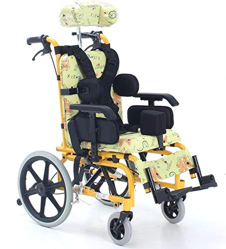 Silla De Ruedas Manual para Niños Silla De Ruedas Infantil Ligera Y Plegable para Uso Médico Silla De Ruedas para Niños Coche Portátil Pequeño para Discapacitados Trolley 🔥