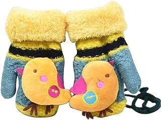 Children Winter Cute Wool Mittens, Thick Infant Warm Gloves, Bird Type, C03