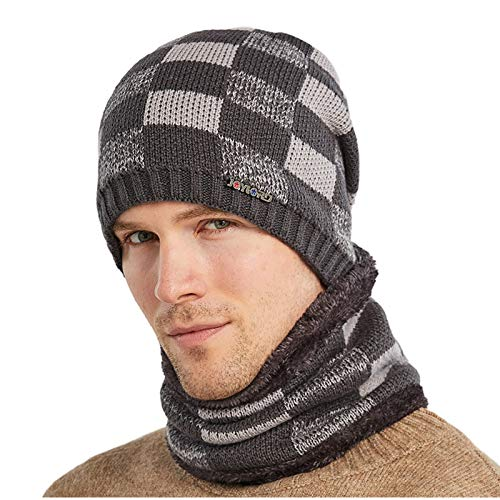 Lazzboy Wintermütze Mütze Damen Winter Windproof Thick Knitted Hat Outdoor Warm...