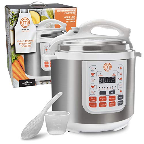 MasterChef 13-in-1 electric Pressure Cooker with 6 QT Electric Digital Instant MultiPot and Non-stick Pot