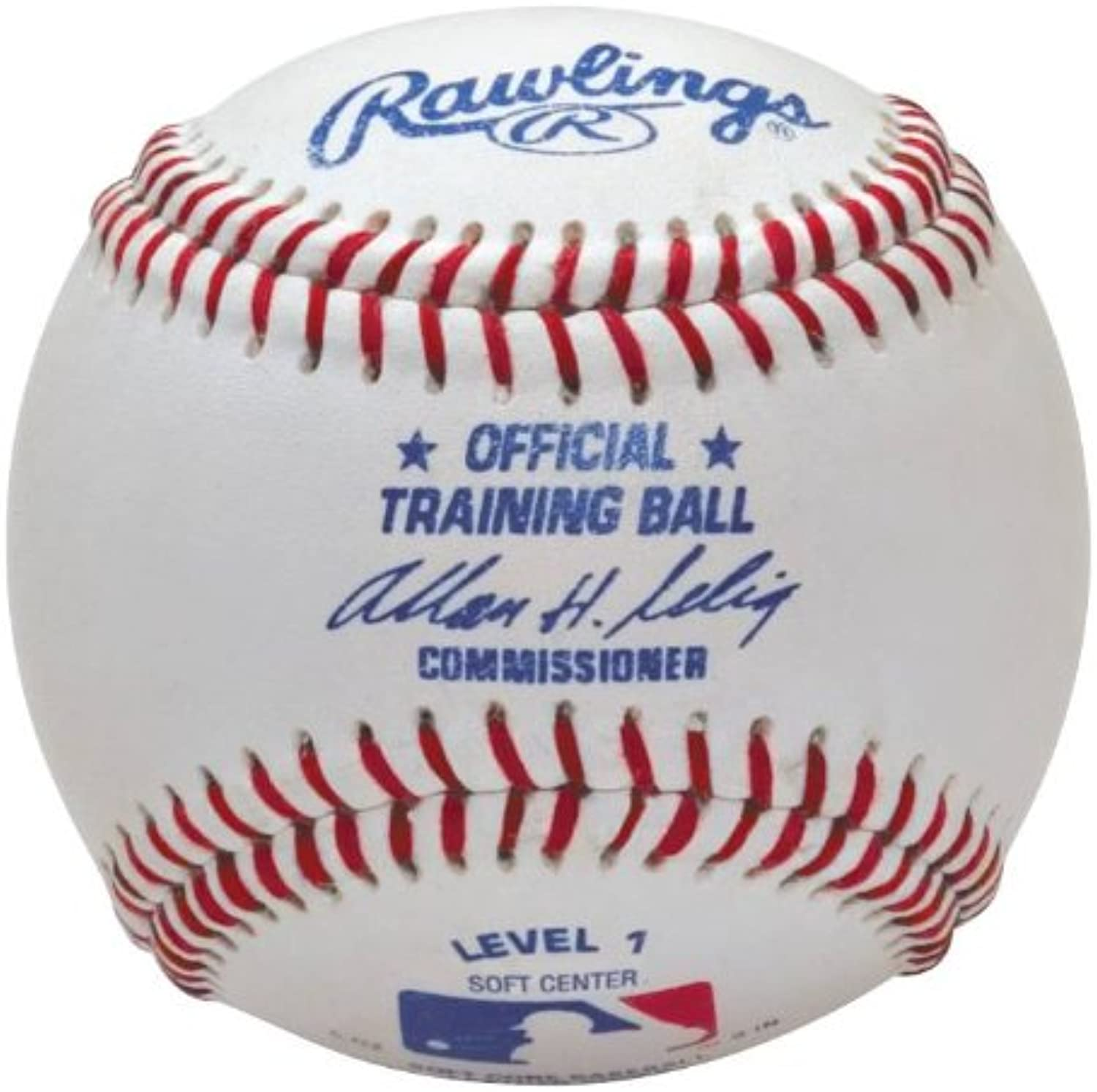 1 Level Rawlings red w white Baseballs, Dozen (One Training