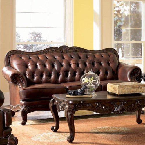 Hot Sale Classic Tri Tone Leather Sofa