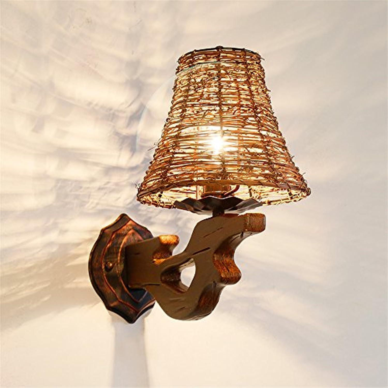 StiefelU LED Wandleuchte nach oben und unten Wandleuchten Bauernhof Wandleuchten Tee Kaffee Tee Zimmer rattan Serie light Wandleuchte natürliche Hand gewebt (200  330 mm)